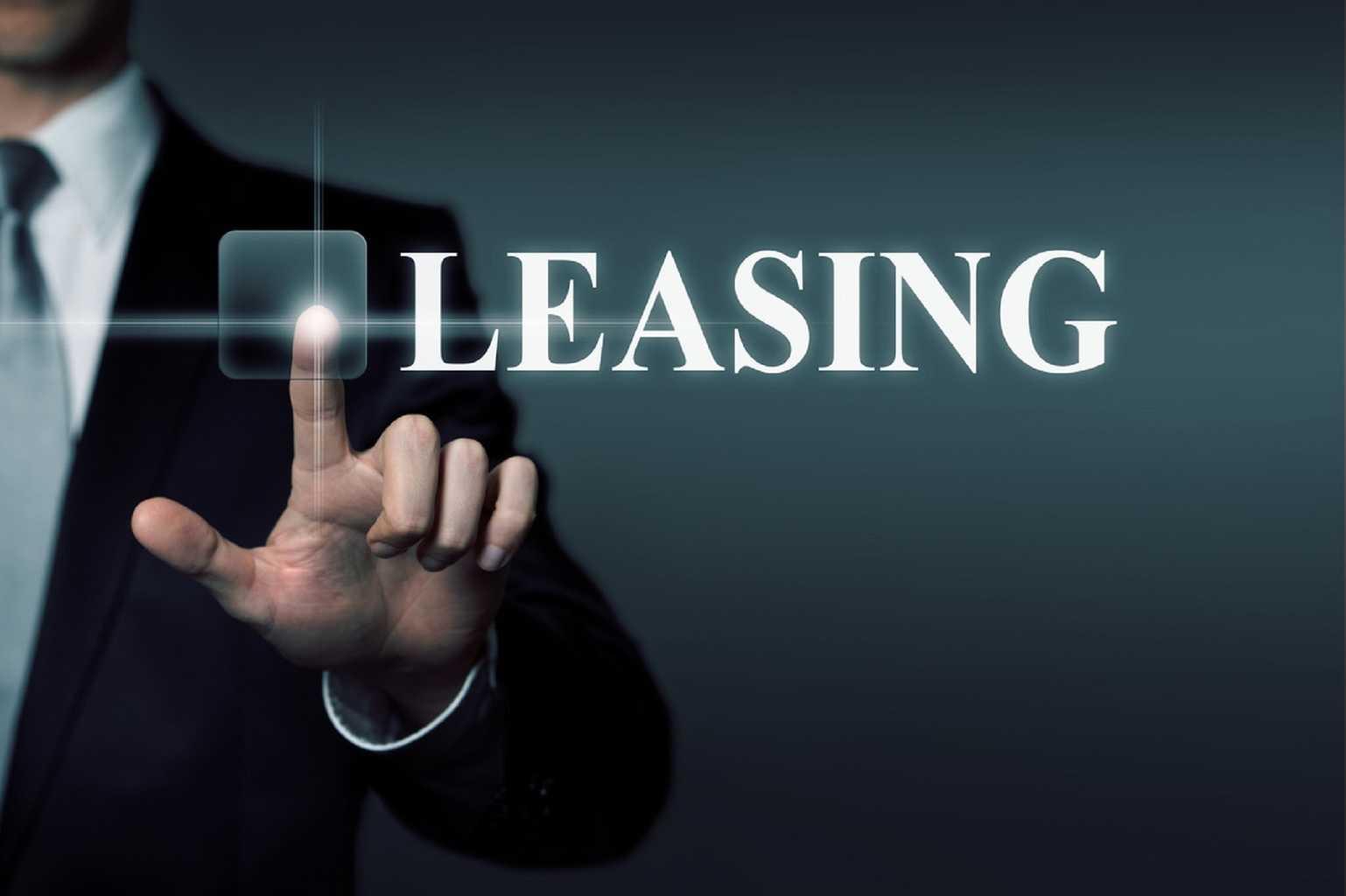 Affichage du mot leasing sur écran tactile pour copieur en location