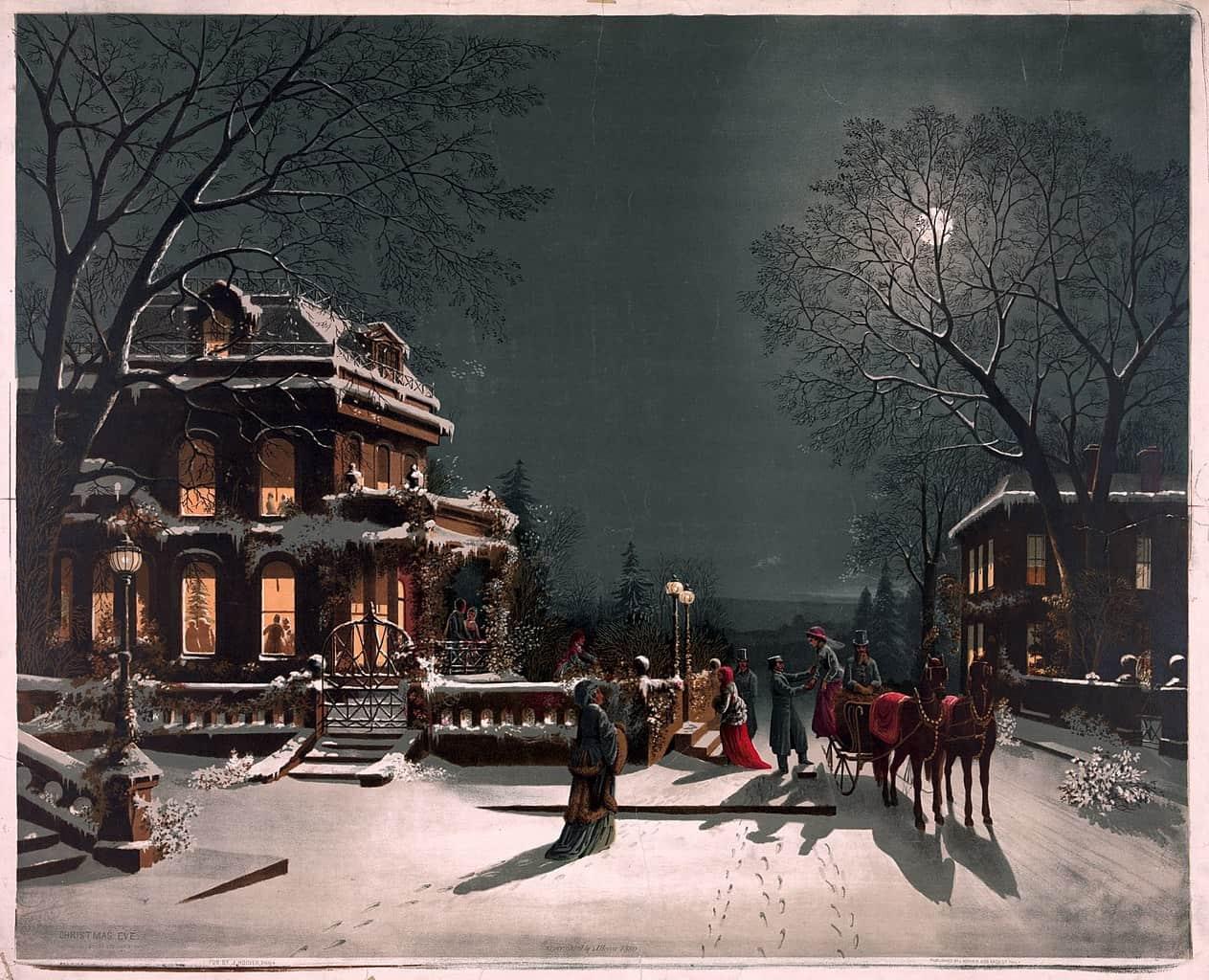 Paysage de Noel datant de 1880