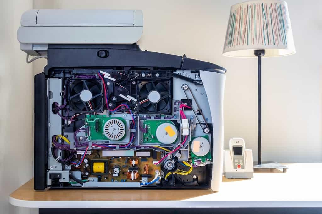 les composantes d'une imprimante multifonction